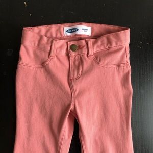 Old navy peachy pink stretch jeans 5T